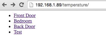sensor list