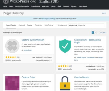 Choosing WordPress plugins
