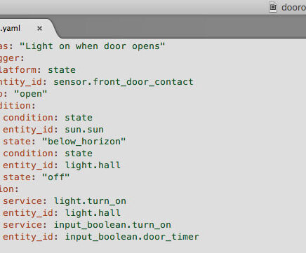 Automating with HomeAssistant