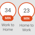 Google travel time in Home Assistant