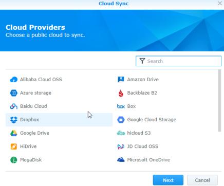 Linux to OneDrive via Synology